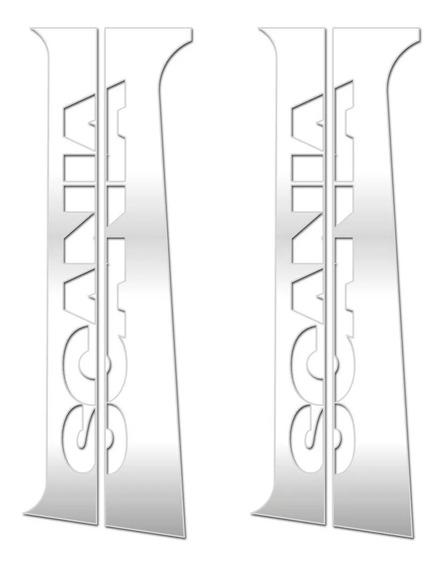 Aplique Inox Coluna Porta Sc 124 Serie 4 Serie 5