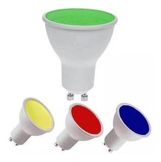 Lampara Dicroica Led Color 7w Gu10 Azul Amarillo Verde Rojo 630 Lumenes Garantia 1 Año X Defecto Fabricacion !!