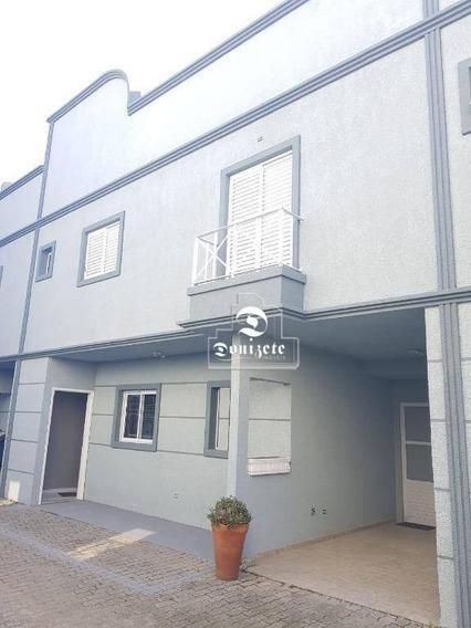 Sobrado Com 3 Dormitórios Para Alugar, 140 M² Por R$ 1.600/mês - Campestre - Santo André/sp - So2589