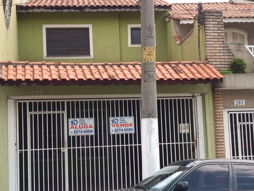 Sobrado Com 3 Dormitórios, 120 M² - Venda Por R$ 850.000,00 Ou Aluguel Por R$ 2.800,00/mês - Vila Alpina - São Paulo/sp - So6829