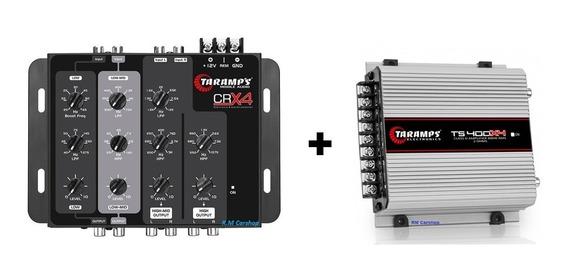 Kit Crossover Eletrônico Crx4 Vias + Modulo Taramps Ts400 X4
