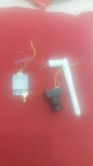 Vendo Micro Câmera De Fpv Mas Receptor E Antena Tudo Complet
