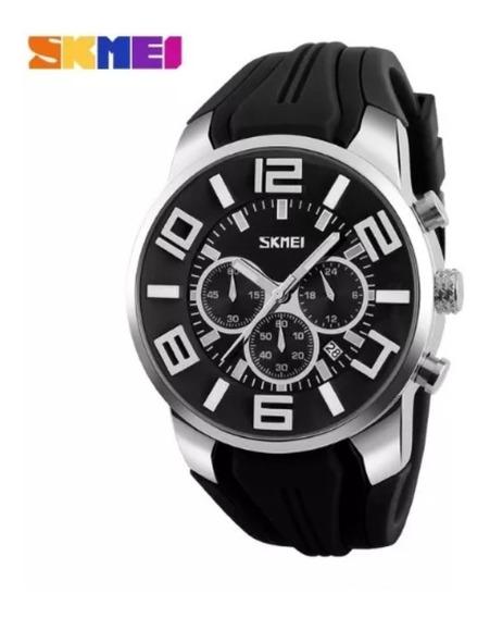 Relógio Masculino Skmei 9128 Analógico Preto Original