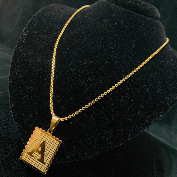 Correntinha De Ouro Cordão Banhado Com Varias Letra Inicial