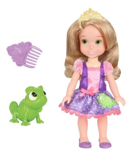Muñeca 15 Cm Princesas Con Mascota Disney Wabro