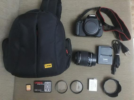 Câmera Fotográfica Canon 600d (t3i) + Lente 18-55mm + Bolsa