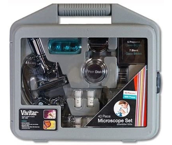 Vivitar 40 Piece Microscope Set