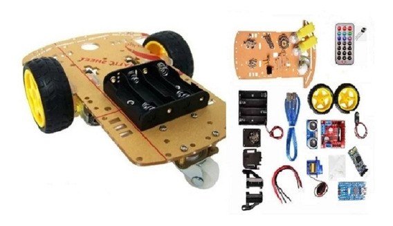 Kit Robotica Chassis Car Arduino Nano 2 Motores Bluethooth