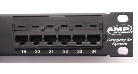 Patchera Patch Panel 24 Bocas Cat 5e Rj45 Amp 3m Rack