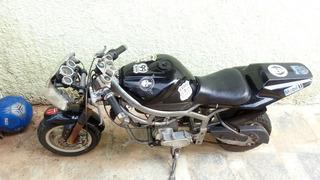 Mini Moto R1 2t Partida Eletrica Gasolina