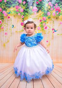 Vestido Infantil Festa Tam 1 Ano