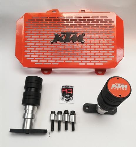 Defensa Sliders Duke 200 + Parrilla Radiador Ktm 200