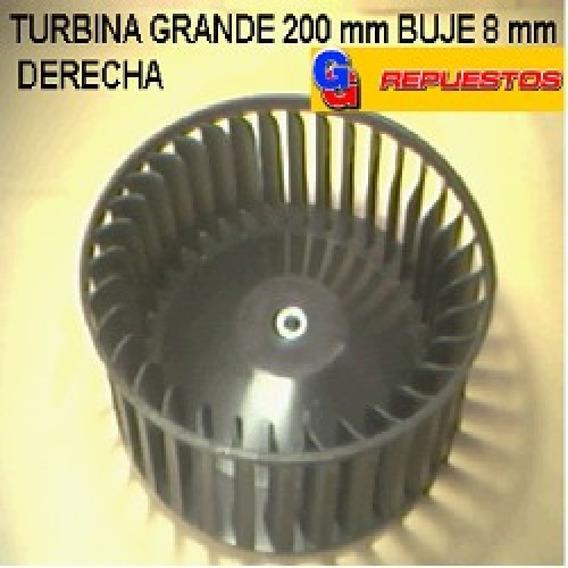 Turbina Purificador 200 Mm Grande Buje 8 Mm Derecho Alto 6.5