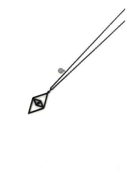 Collar Hombre Ojo Geometrico Acero Plata Cr08 Sarosa