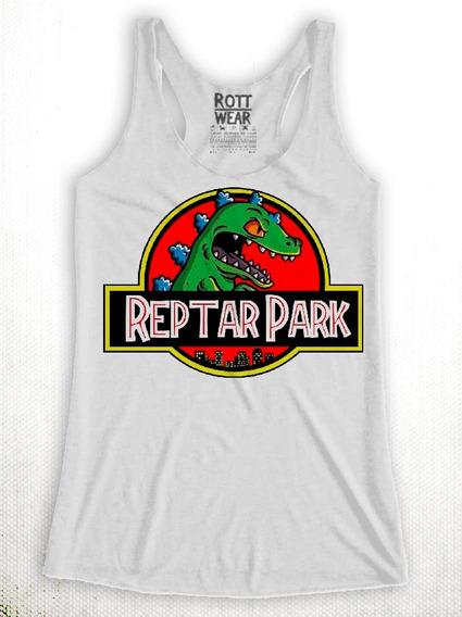 Reptar Jurassic Park Rugrats T-rex Tank Top Rott Wear