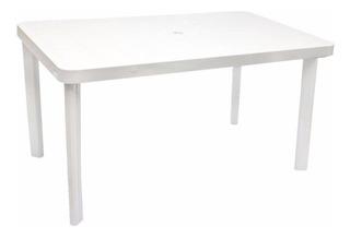 Mesa Plastica Rectangular Blanca 1,40 X 0,85 Reforzada