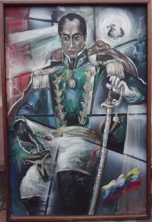 Pintura Al Óleo De Simón Bolivar - Bolivar Mano Negra