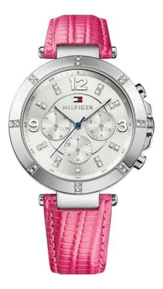Relógio Tommy Hilfiger 1781537 Couro Cristais Rosa Pink