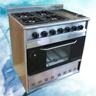 Cocina Tecnocalor Industrial Ab4 Super Luxe 4 H + Plancha