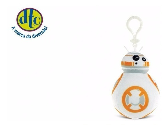 Chaveiro Star Wars Clip On Bb-8 Droid 10cm Dtc