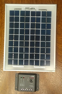 Kit Energia Solar Panel Solar Y Regulador Para Camping