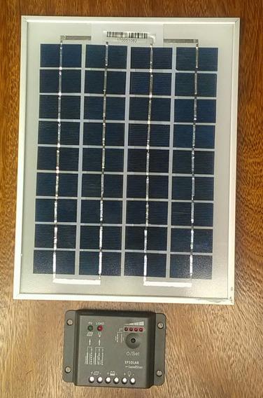 Kit Energia Solar Panel Solar Y Regulador Para Camping