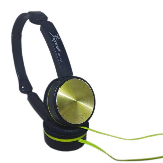 Fone Ouvido Headphone Com Fio Stéreo Super Bass Amarelo