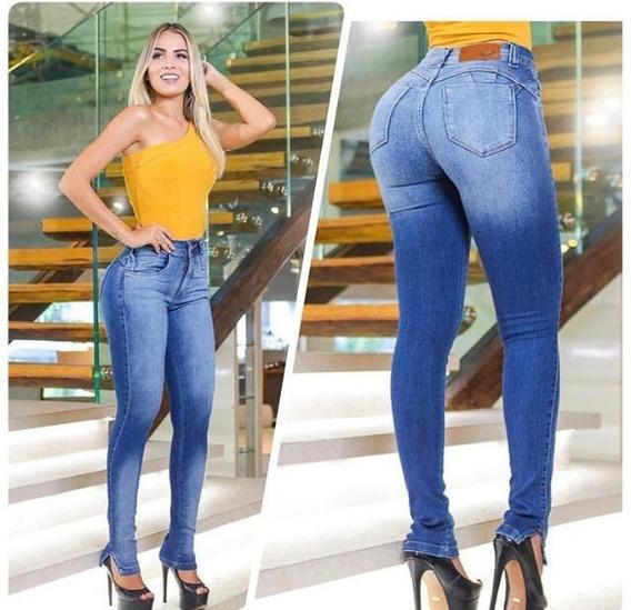 Calça Jeans Hot Pant Cintura Alta Cores Pmg E Gg Elegante