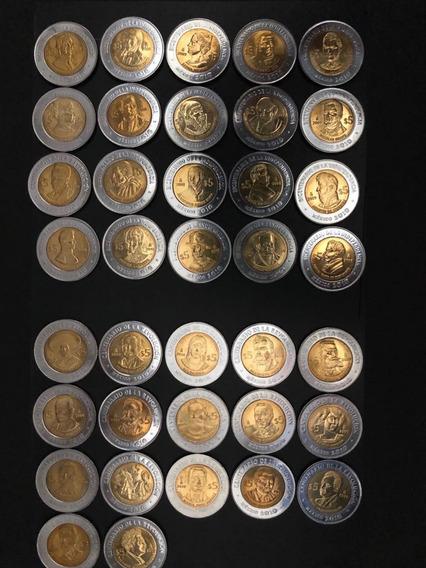 Coleccion Completa Monedas De 5 Pesos Ind Y Rev