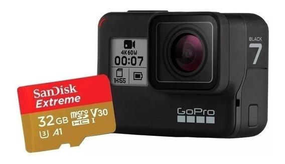 Gopro Hero 7 Black + Microsd Sandisk Extreme 32gb
