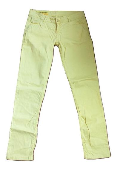 Pantalón Jean Ona Saez Original Amarillo Talle 40