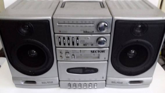Boombox Sector Radio Fm Om Fita K7 Funcionando Parcialmente
