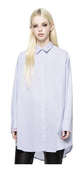 Camisa Amour Rayado Casual Mujer Complot