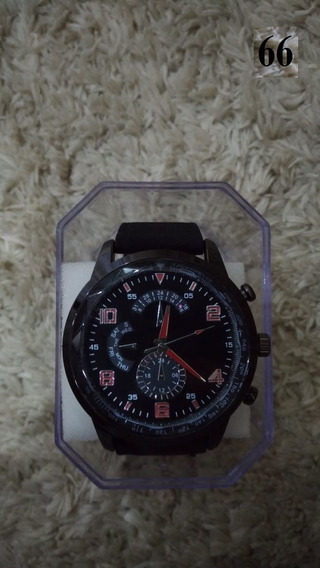 Relógio Masculino Sextavado Preto Couro Sintético Barato