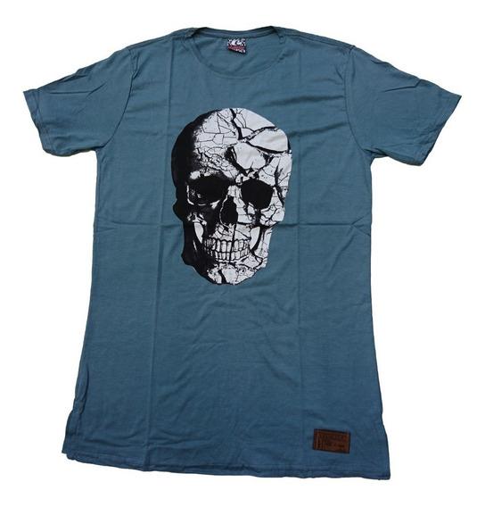 Kit C/6 Un Camisas Blusas Masculinas Longline Oversize Swag