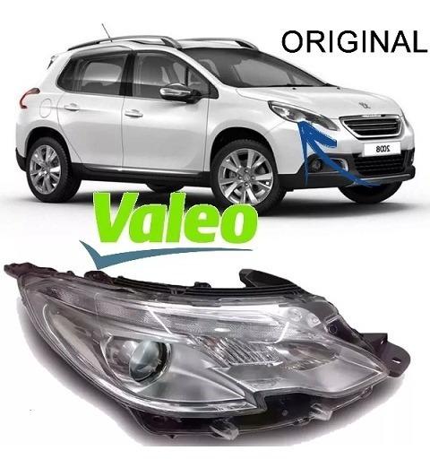 Farol Peugeot 2008 Original Anos 2014 15 16 Led Valeo Usado