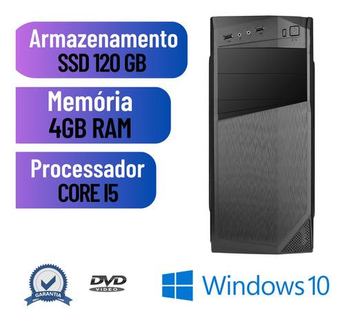 Imagem 1 de 8 de Pc Desktop I5 4gb Ssd 120gb Win10 _ Programas Basicos