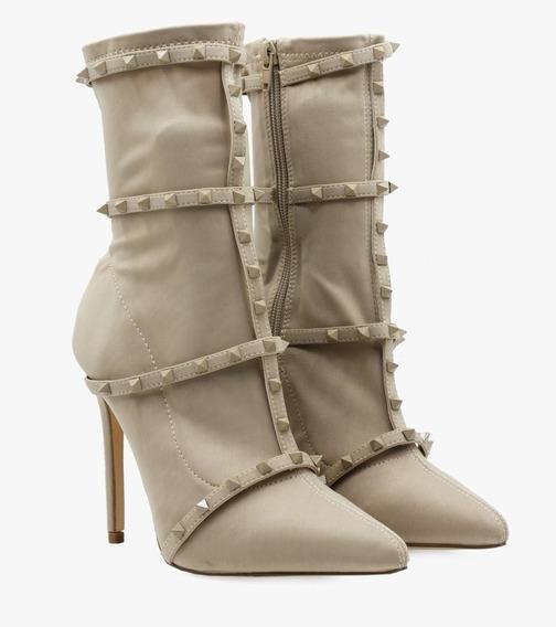 Botines Zapatos Zapatillas Nude Dama Mujer Moda Envio Gratis