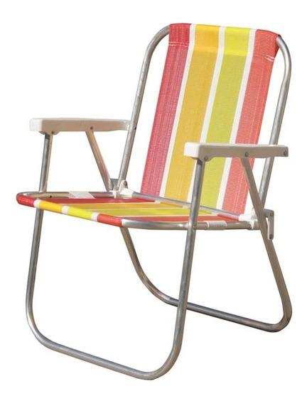 Cadeira Praia Varanda Alta Alumínio Cad0047 Botafogo