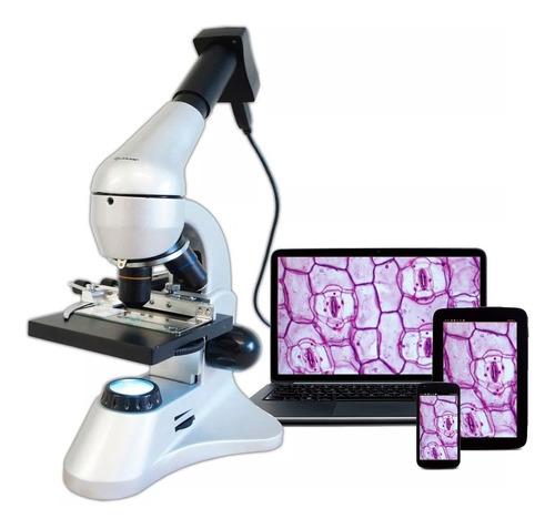 Microscopio Quasar Qm10 1600x Metálico Ocular Usb Y Maleta