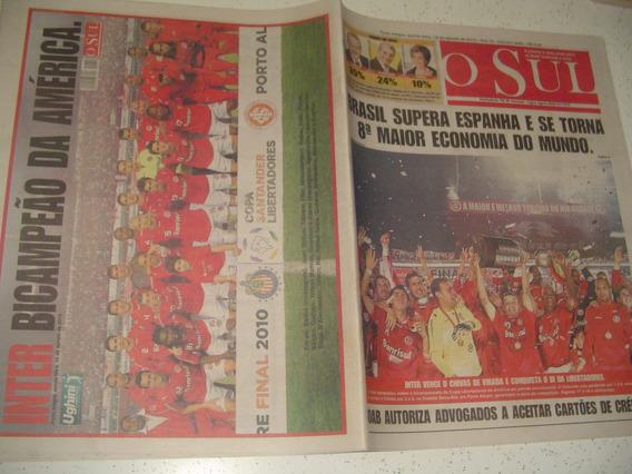 Inter Bi Campeão Libertadores 2010 Jorn O Sul Porto Alegre