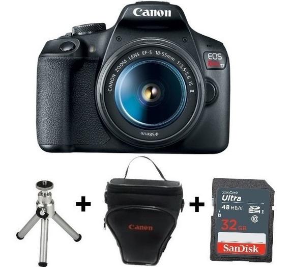 Câmera Canon Rebel T7 C/ 18-55 +sd 32gb+bolsa+tripé