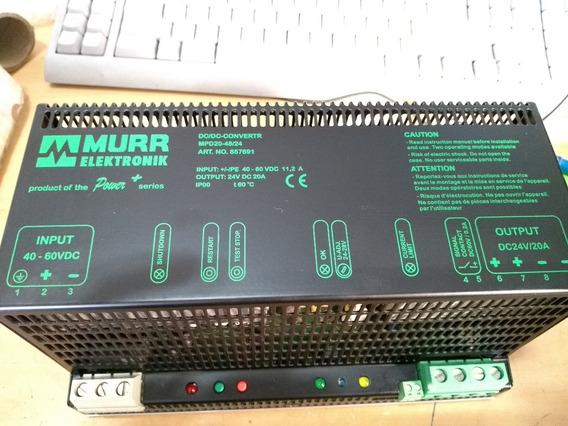 Conversor Murr Elektronik Dc/dc Mpd20-48/24 Seminovo Na Cx.