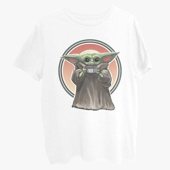 Baby Yoda The Mandalorian Playera Blanca