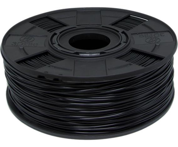 Filamento Abs Premium 1,75 Mm 1kg Preto 3d 3dfila