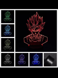 Lampara Dragon Ball Goku Super Sayayin 7 Colores