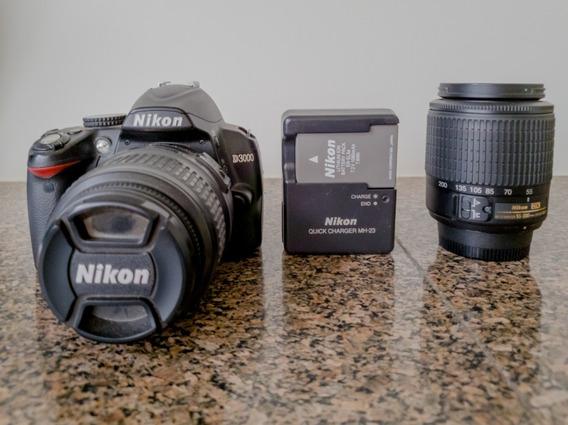 Kit Nikon D3000 + Uma Lente 18-55mm + Outra Lente 55-200mm