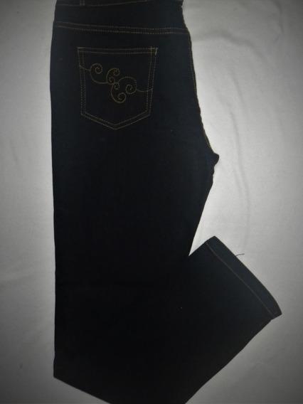 Pantalon Liso Strech Corte Alto Talla 19-20