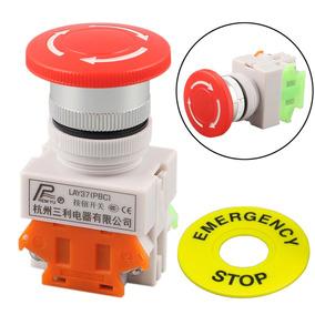 Botão Interruptor Switch Cogumelo Parada De Emergência Stop