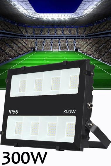 Refletor De Led 300w Potência 30.000 Lumens Uso Externo Campo Quadra Industria Galpão Armazém Ip66 A Prova D